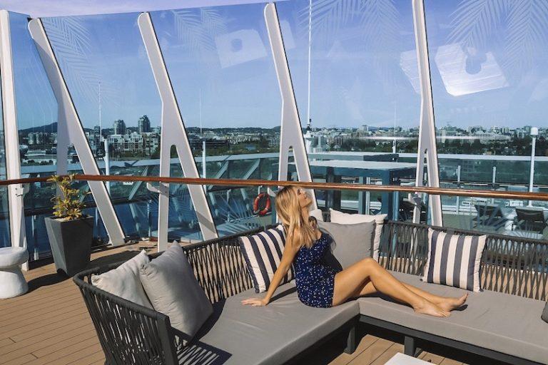 Kashlee at the Retreat Sundeck on the newly renovated Celebrity Millennium cruise