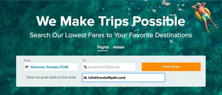 Airfare watchdog lets you search from your departure city to 'anywhere'