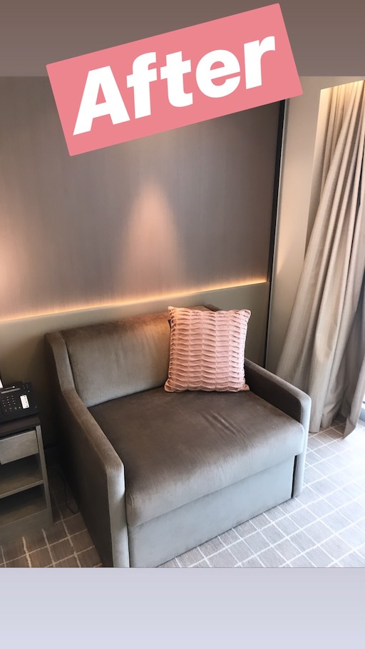 new chair in stateroom - celebrity millennium renovation