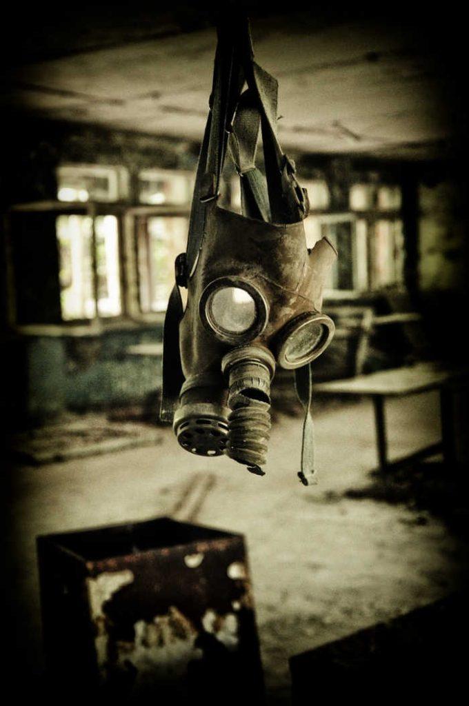 Gas Mask Hanging IN Pripyat