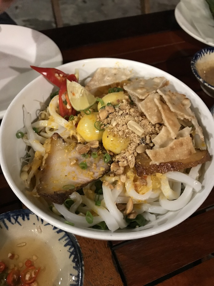 go on a food tour in Da nang - my quang noodles