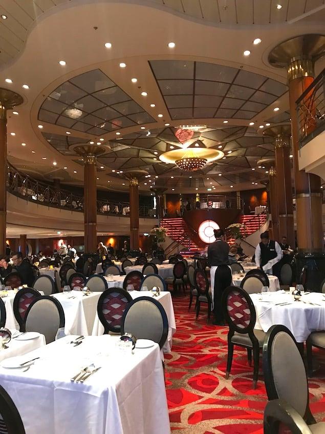 The old metropolitan dining room on celebrity millennium in 2018