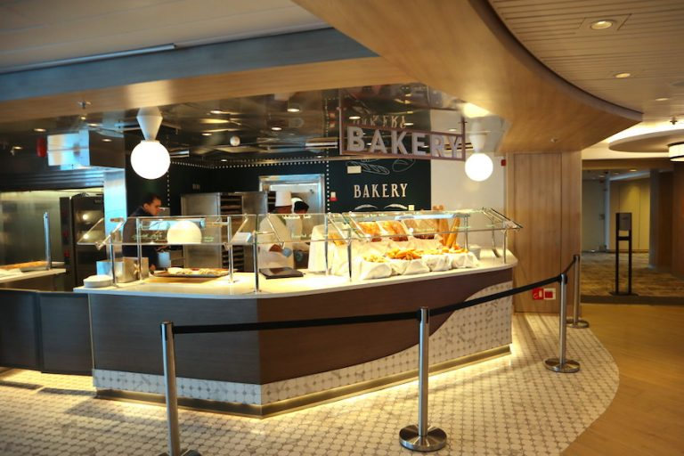 Oceanview Cafe on the newly refurbished Millennium