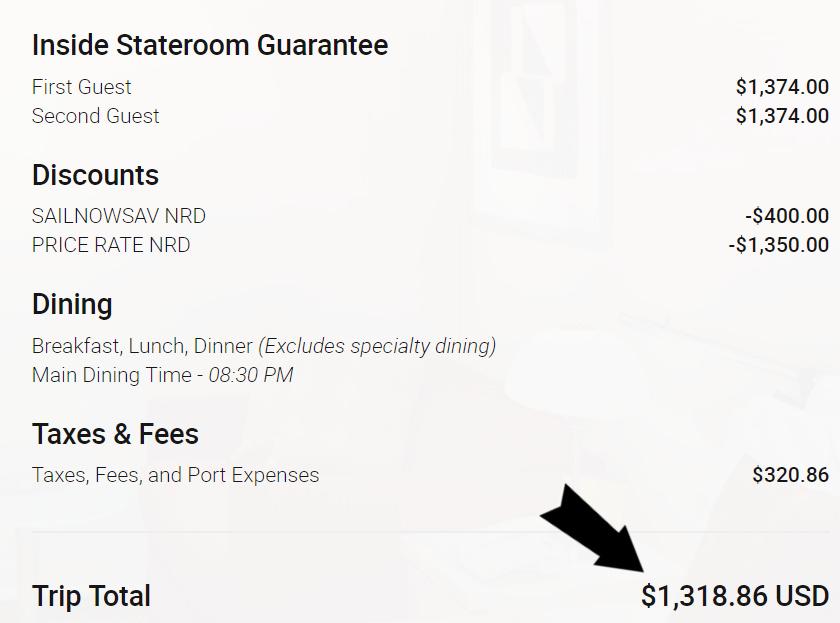 Cruise Price