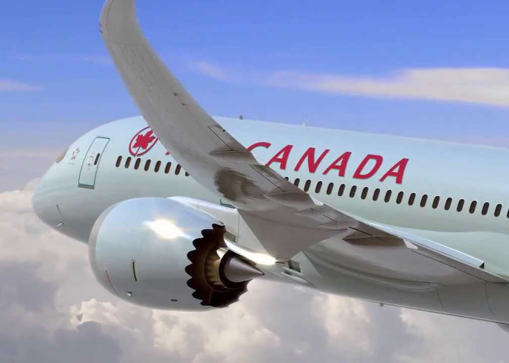 International FLight on AIr canada