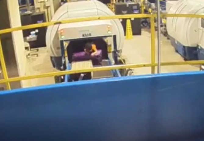 Airport conveyor belt incident