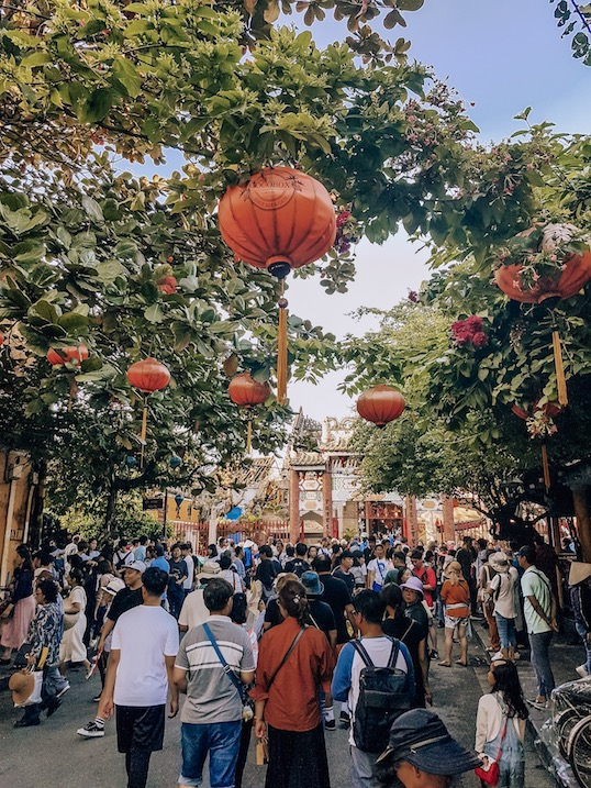 Hoi An is crowded