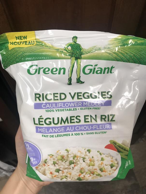 sub cauliflower rice for regular rice in thai curry