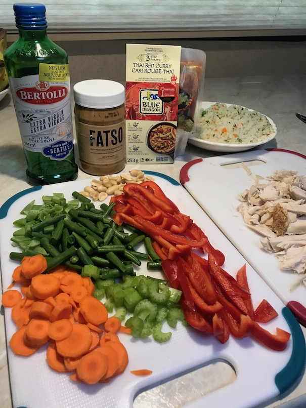 shopping list for healthy thai red curry