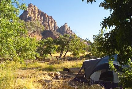 camp ground info at Zion park