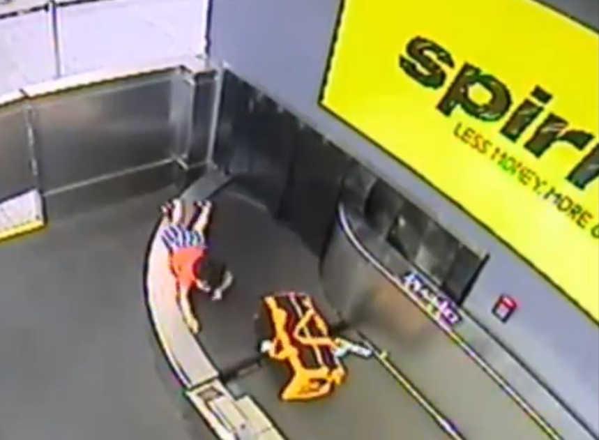 Injury of toddler at airport