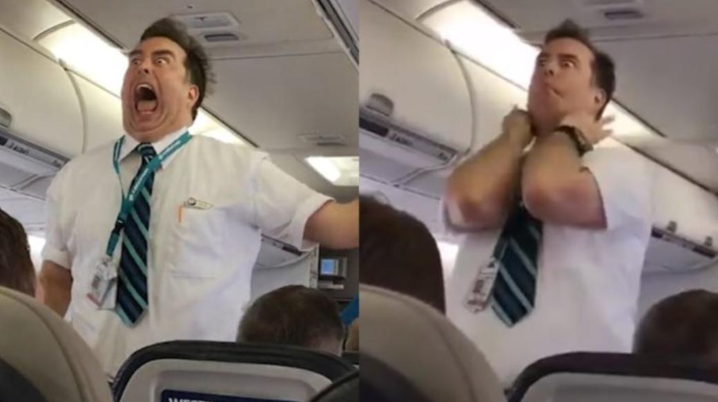 WestJet Flight Attendant Goes Viral After Hilarious Safety Instruction VIDEO