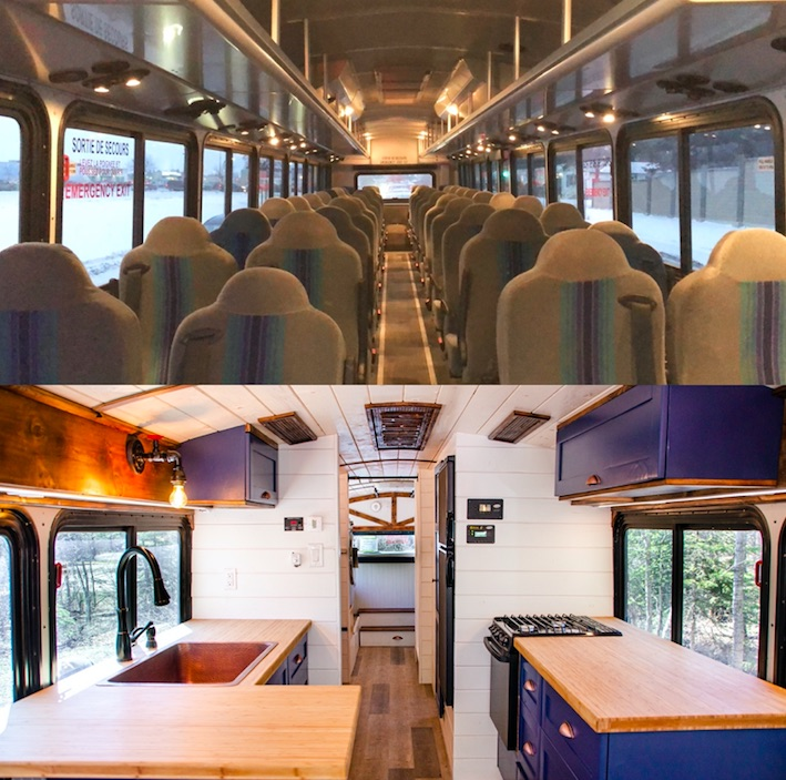 Bus turned into tiny home