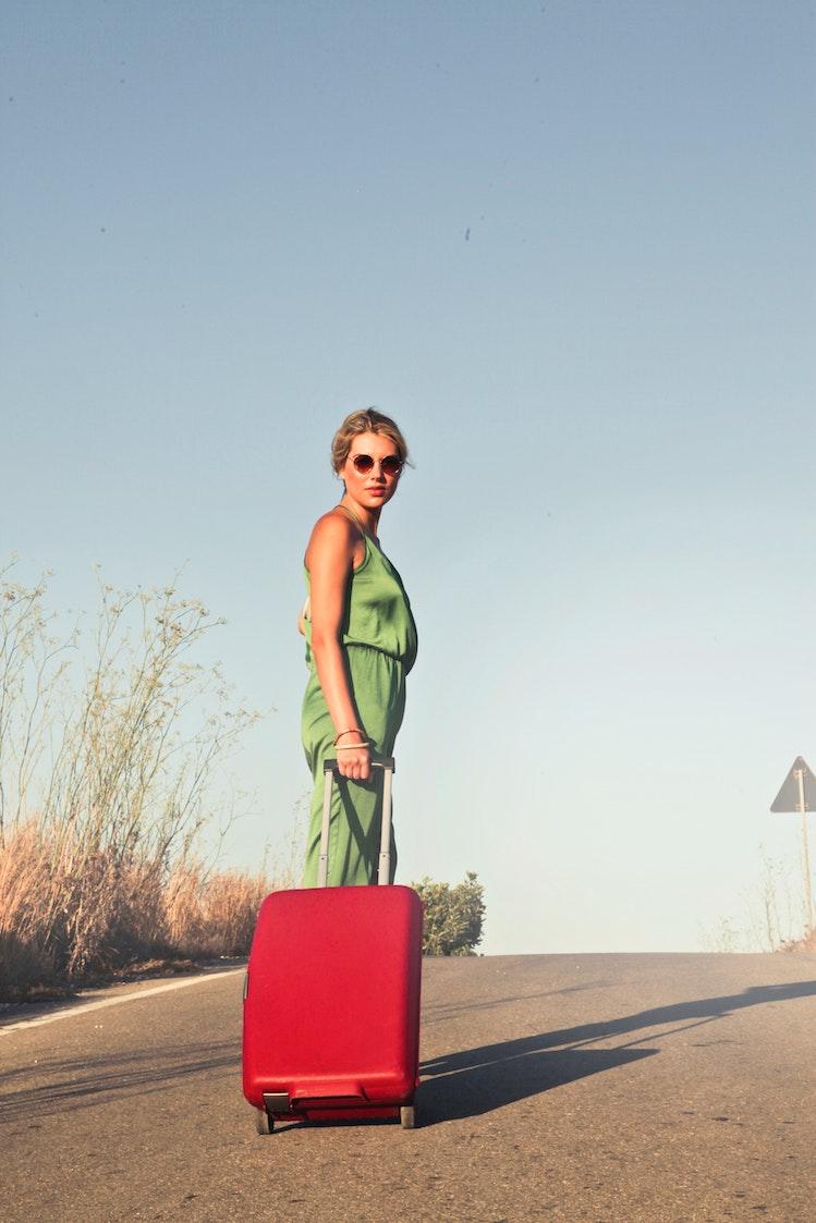 Hard luggage cons - no exterior pockets