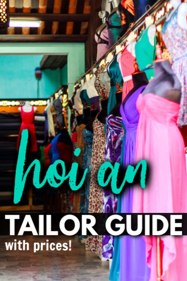Hoi An Tailor guide - with prices!
