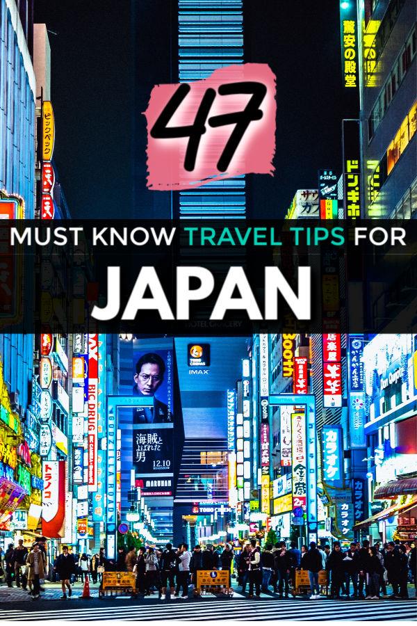 47 travel tips for Japan