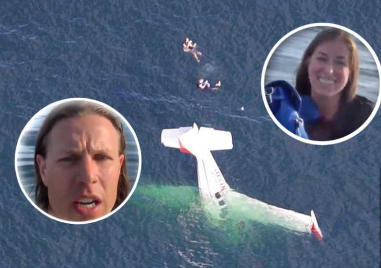 plane crash footage selfie resuce