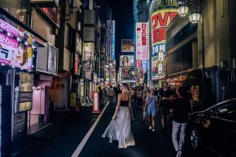 What to expect when visiting Japan - it's very safe to walk at night