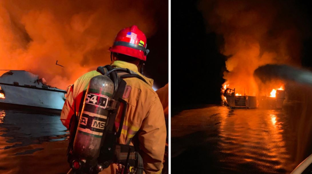 Boat Fire Tourist Diving Boat 30 People Feared Dead California