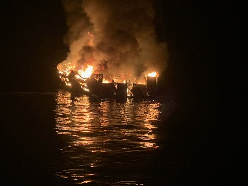 Fire Engulfed Boat