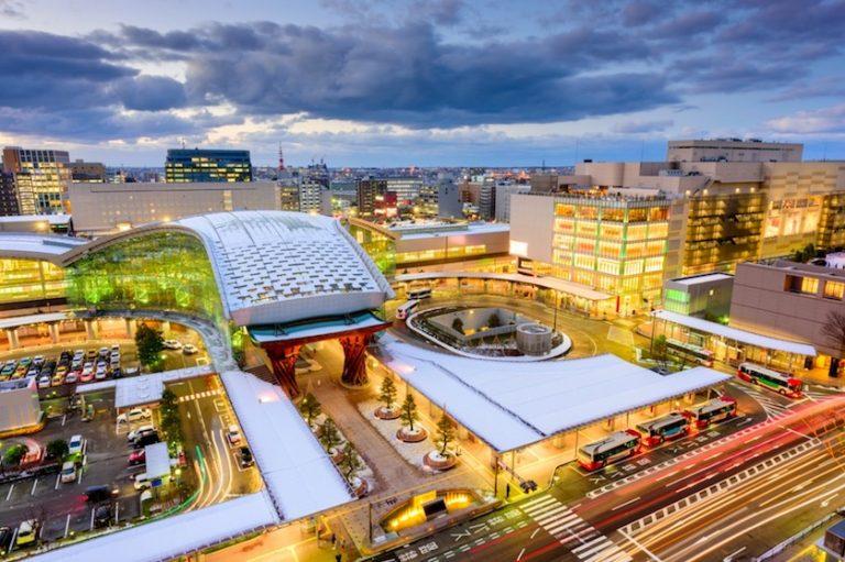 city scape of Kanazawa Japan