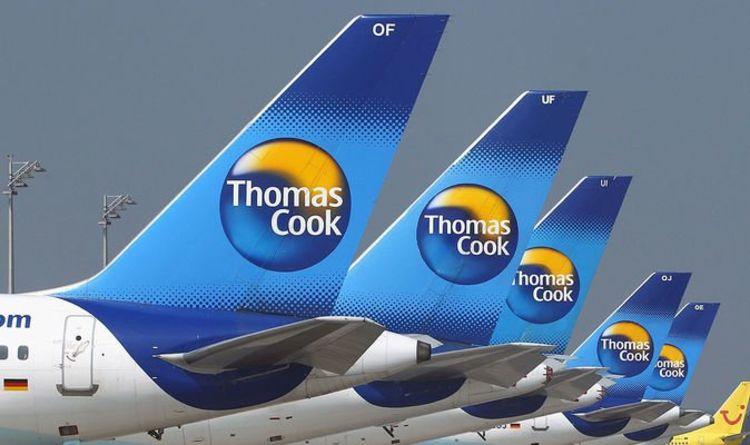 Thomas Cook Airplanes sit on Tarmac