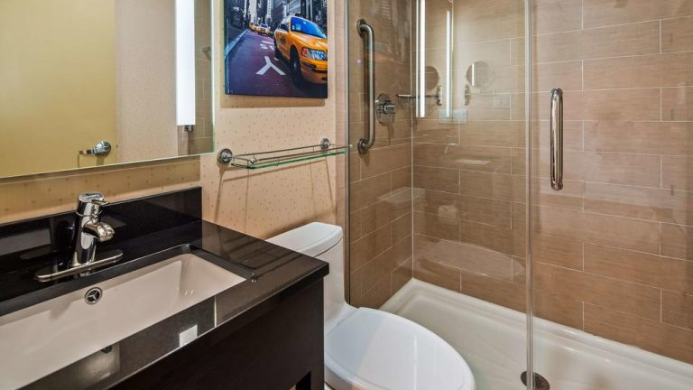 bathroom in the best western premier manhattan
