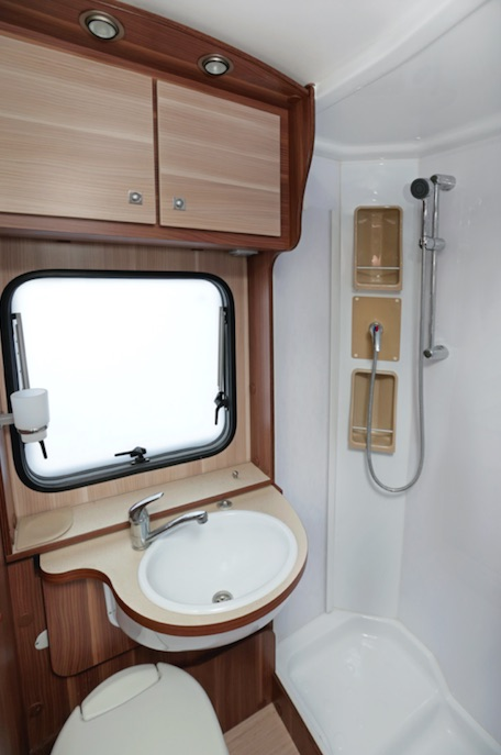 Small shower and little hot water can be hard with RV living