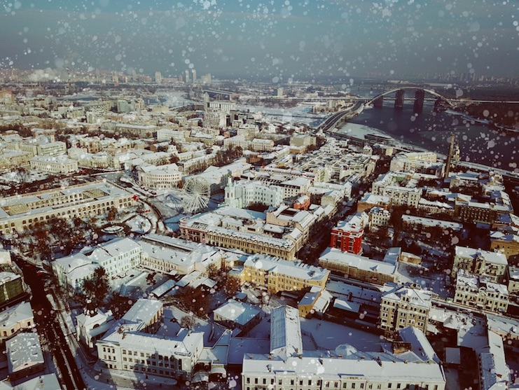Snowy winters in ukraine