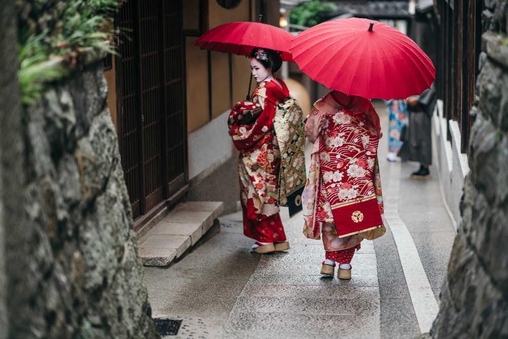 Geisha walking in Kyoto