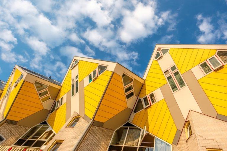 unique cube house hotel in rotterdam