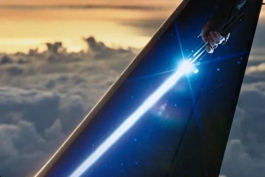 Light Saber on tail of plane