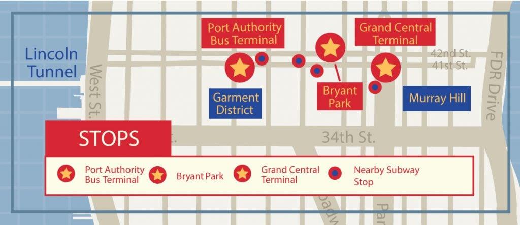 stops for newark express bus