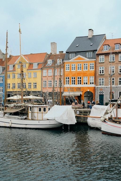 Nyhavn canal streets in Copenhagen