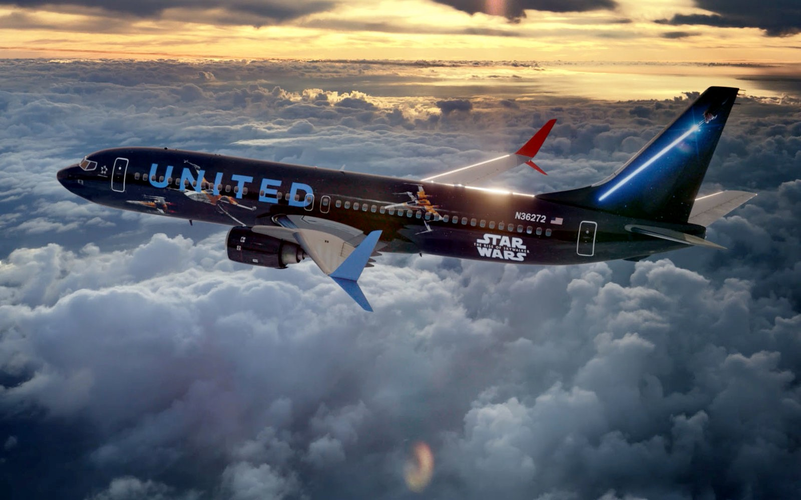 Star Wars Theme Plane United Airlines