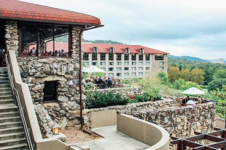 Sunset Terrace - restaurant with the best views in asheville