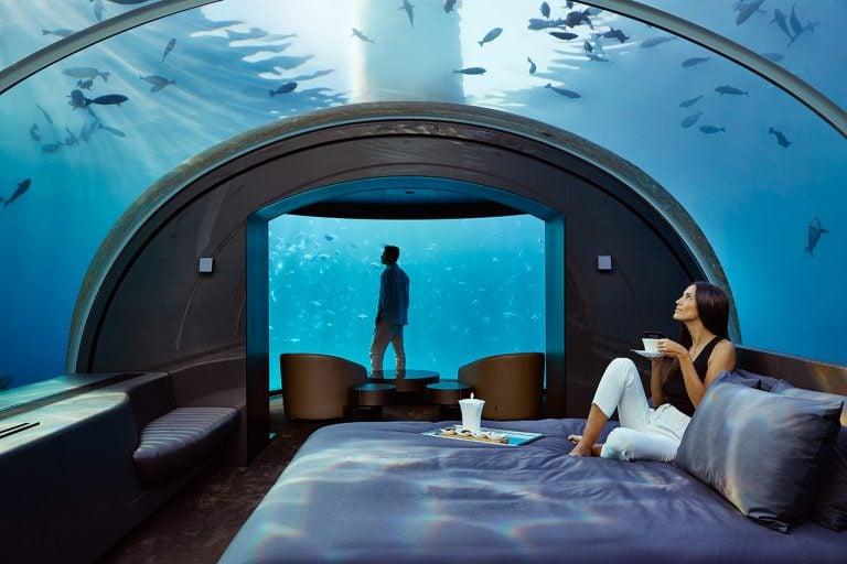 underwater hotel room