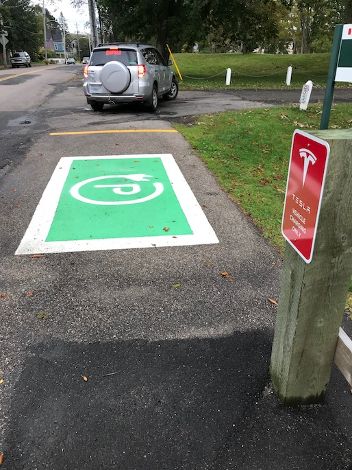Tesla parking and charging in Annapolis Royal