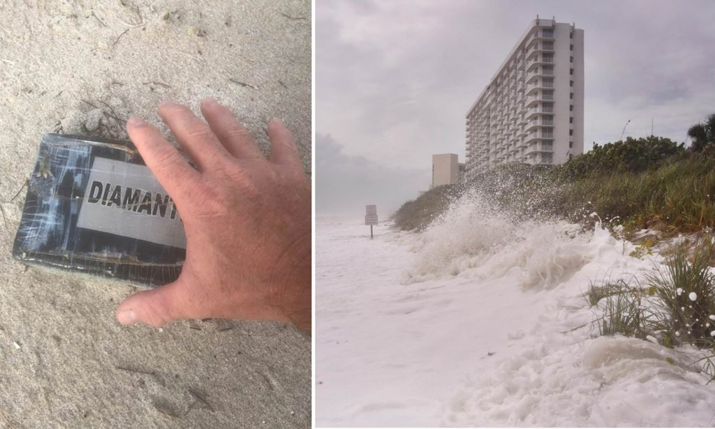 cocaine bricks washed up in hurricaine
