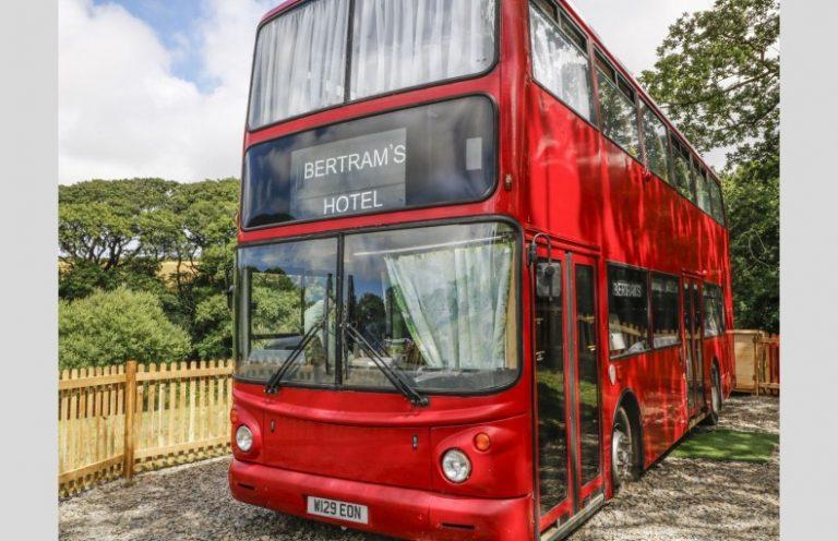 sleep in a double decker bus in the UK