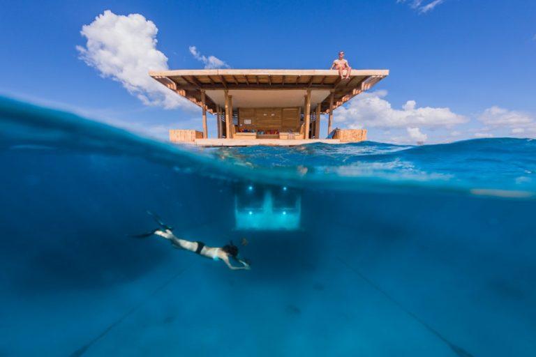 underwater room at the manta resort