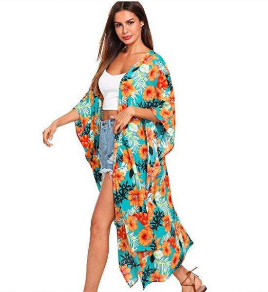 Beach cover up kimono - christmas gift ideas for women who travel