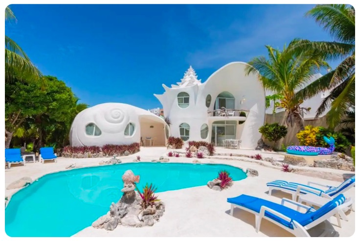 Most unique airbnb's in the world - the sea shell house isla mujeres