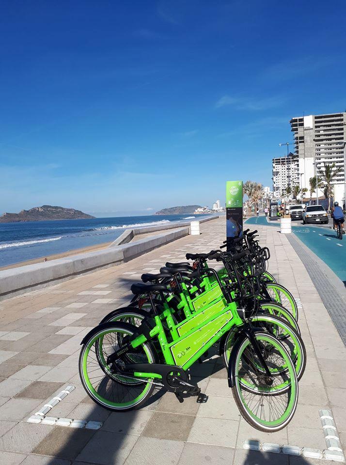 Vbike rentals on the malecon of Mazatlan