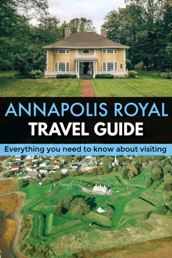 Travel guide for visiting Annapolis Royal Nova Scotia