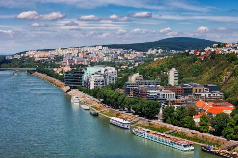 view of the danube in bratislava