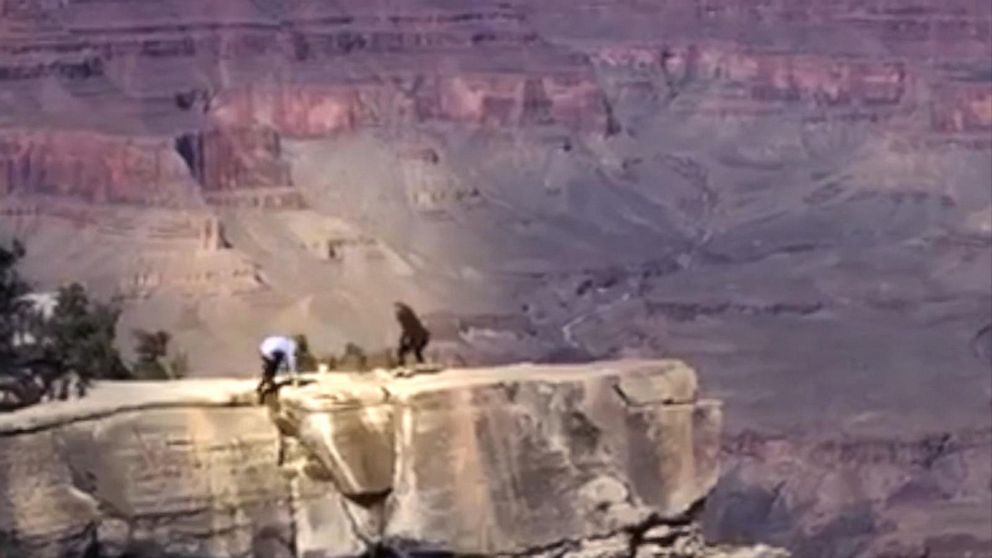 grand canyon edge almost fall