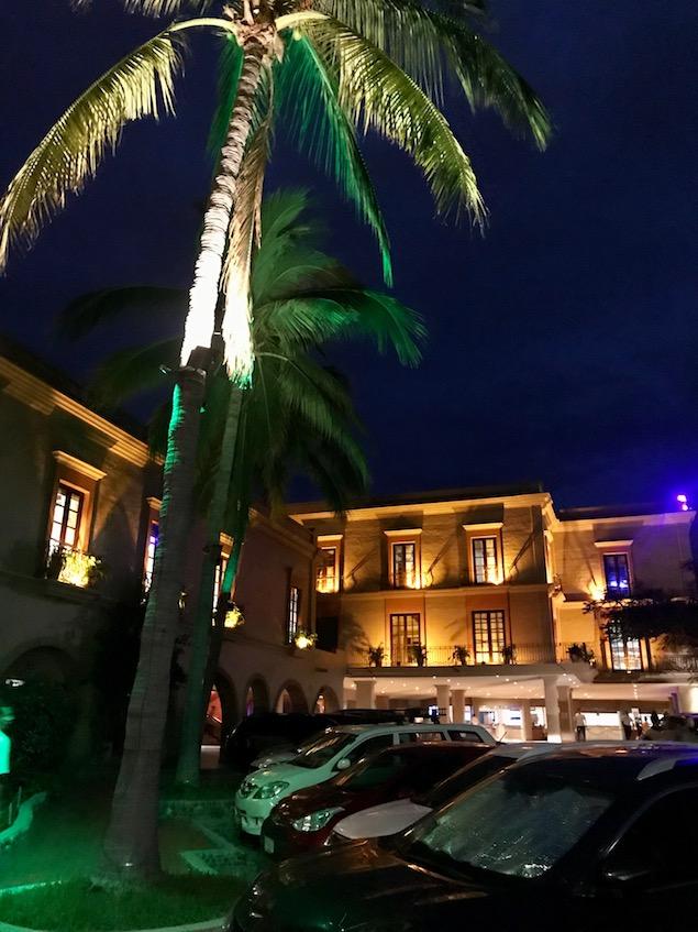 Hotel Playa Mazatlan at night