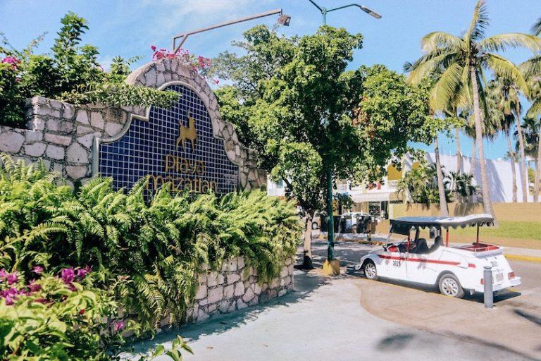 Mazatlan Pulmonia golf cart at the Playa Mazatlan Hotel