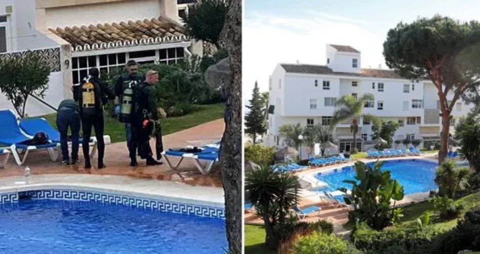 A British father and his two children drowned in a swimming pool at a resort in the Costa del Sol drowning